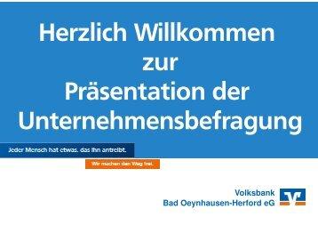 Präsentation - Volksbank Bad Oeynhausen-Herford eG