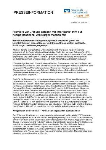 Presseinformation als PDF - Vereinigte Volksbank eG - meine VVB ...