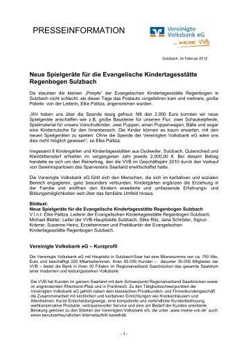 Presseinfo als PDF (49 KB) - Vereinigte Volksbank eG - meine VVB ...