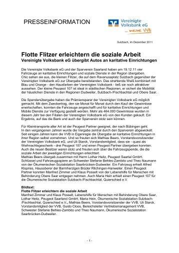 Presseinfo als PDF (54 KB) - VVB Vereinigte Volksbank eG im ...