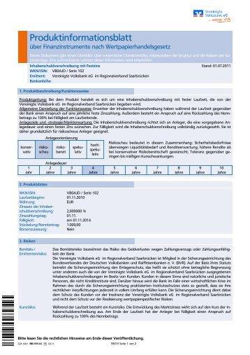 IHS S. 102 - VVB Vereinigte Volksbank eG im Regionalverband