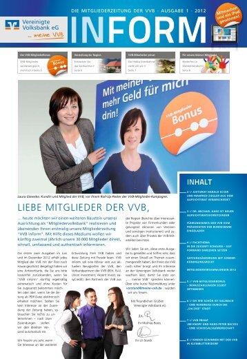 LIEBE MITGLIEDER DER VVB, - Vereinigte Volksbank eG - meine ...