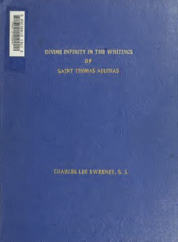 Divine infinity in the writings of Saint Thomas Aquinas