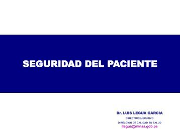 Seguridad del Paciente MR 2012 - Diresaloreto.gob.pe