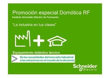 Promoción especial Domótica RF - Equipos didácticos
