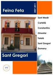 Descarregar Feina Feta 2007-2011 - Grup Municipal CiU Sant Gregori