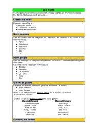 ELS NOMS Classes de noms Noms comuns Noms propis El nom: el ...