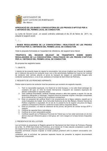BOIB TAXIS 2011 - Ajuntament Sant Antoni de Portmany