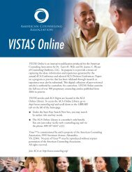 VISTAS Online - Counseling Outfitters