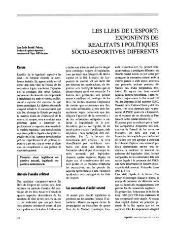 LES LLEIS DE L'ESPORT: EXPONENTS DE REALIT ATS I ... - apunts