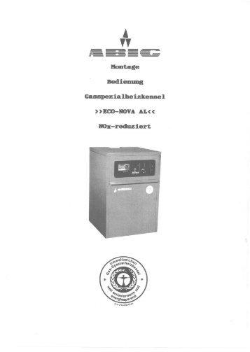 Gaskessel Econova AL - ABIC Brennertechnik Gmbh