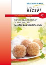 Rezept downloaden - MeisterMarken - Ulmer Spatz