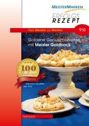 Goldene Genussmomente mit Meister Goldback - MeisterMarken ...