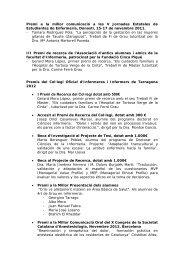 • I Premi de Recerca del Col·legi dotat amb 500€ - Facultat d ...