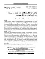 The Academic Use of Social Networks among University ... - Dialnet