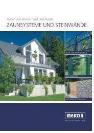 zaunsysteme und steinwände - Mekon Metallkonstruktionen GmbH