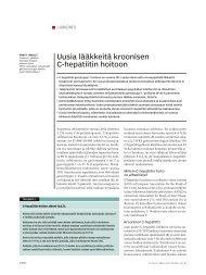 Uusia lääkkeitä kroonisen C-hepatiitin hoitoon - Suomen Lääkärilehti