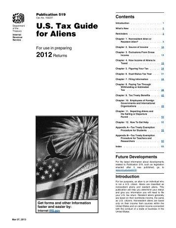 2012 Publication 519 - Internal Revenue Service