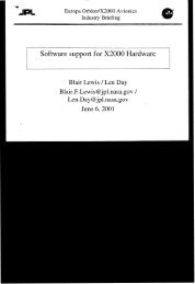 Software support for X2000 Hardware - Nasa