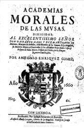 ENRÍQUEZ GÓMEZ, Antonio, 'Academias ... - CELES XVII-XVIII