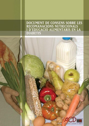 Document de consens sobre les recomanacions nutricionals i d ...