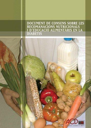 Document de consens sobre les recomanacions nutricionals i d ...