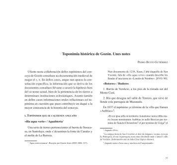 Toponimia histórica de Gozón. Unes notes - Academia de la Llingua ...