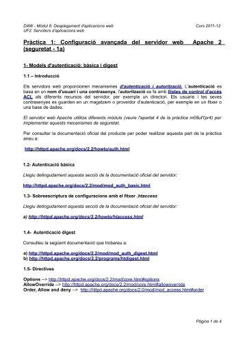 Pràctica 1 - Pàgina Inicial del domini collados.org