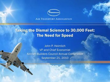 the need for speed - Aircraft Builders Council, Inc.