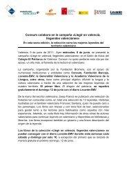 Llegir en valencià, llegendes valencianes - Consum