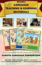 LANGUAGE TEACHING & LEARNING MATERIALS - Lakota ...
