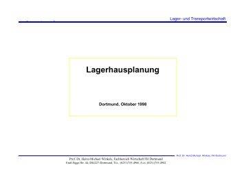 Lagerhausplanung - Prof. Dr. Heinz-Michael Winkels