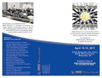 April 15-16, 2011 - NAMI Wisconsin