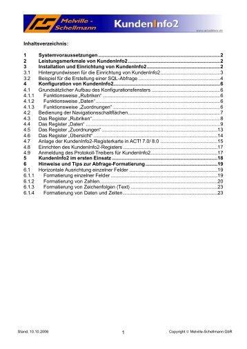 1 Systemvoraussetzungen - Melville-Schellmann
