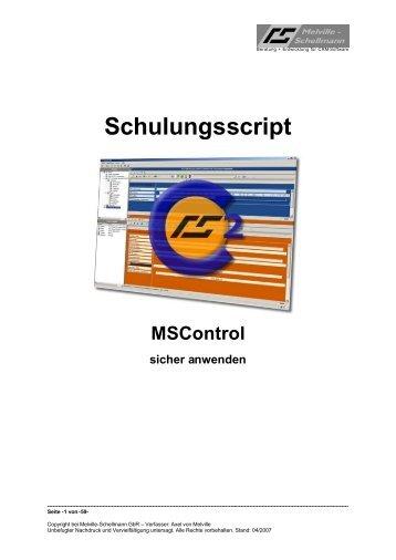 Schulungsscript - Melville-Schellmann