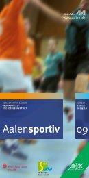 Neuer Termin! Im Sportzentrum Greut! - Stadt Aalen