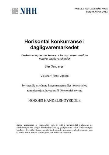 Horisontal konkurranse i dagligvaremarkedet - Norges ...