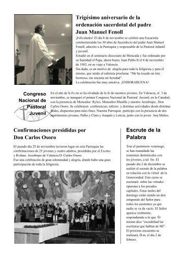 HOJA PARROQUIAL 12/12 centro - Parroquia San Jerónimo