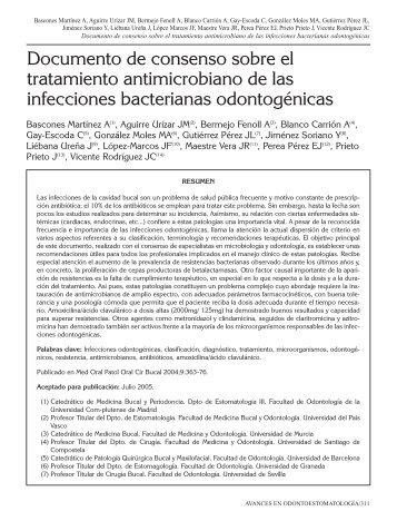 Documento de consenso sobre el tratamiento ... - SciELO España