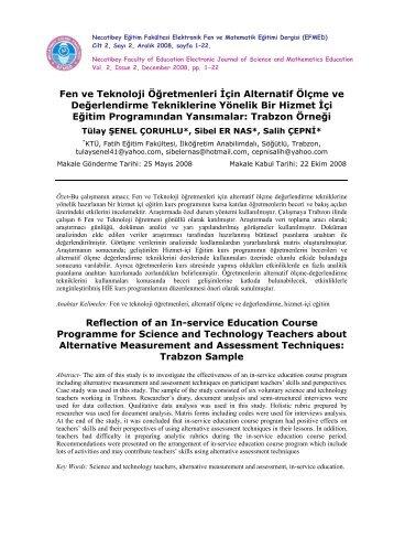 Full Text: pdf - Necatibey Eğitim Fakültesi