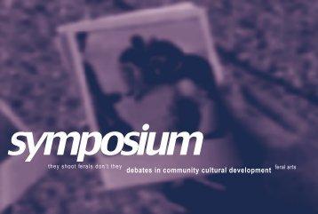PICTURE debates in community cultural development - Feral Arts