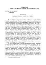 incheierea curtii de apel bucuresti prin care ferat - Romania libera