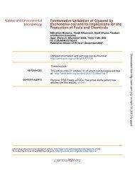 Fermentative Utilization of Glycerol by Escherichia coli and Its ...