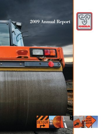 2009 Annual Report - Ontario Road Builders' Association