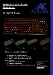 Beleuchtete Gamer Tastatur AK-B8000 Serie ... - Active Key