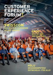 SWISSCOM - Customer Experience Forum