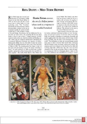 RITA DUFFY - MID-TERM REPORT Denise Ferran assesses the art ...