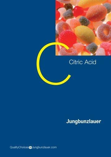 Citric Acid - Jungbunzlauer