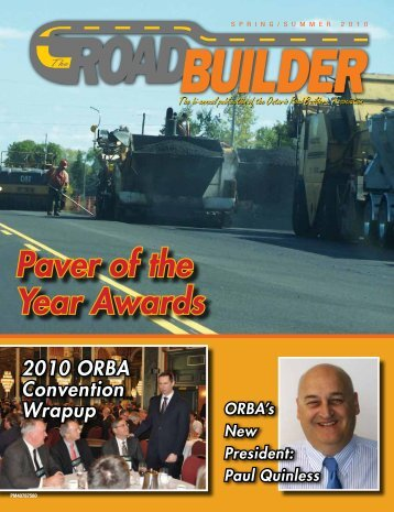Spring Summer 2010 Issue - Ontario Road Builders' Association
