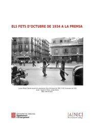 ELS FETS D'OCTUBRE DE 1934 A LA PREMSA